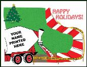 Concrete Candy Cane Sidewalk holiday greeting card