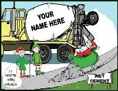 Concrete emergency brake holiday greeting card