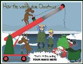 Crane contraption Holiday greeting card