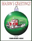 dump truck ornament holiday greeting card