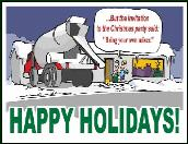 Party concrete mixer holiday greeting card