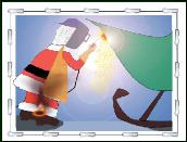 Santa welding holiday greeting card
