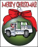WELDING TRUCK ORNAMENT Christmas card